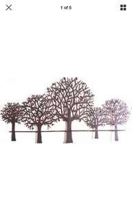 Tree Scenery Hanging Rustic Wall Art Sculpture Decor