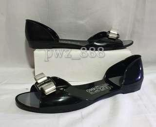 SALVATORE FERRAGAMO Dorsay Jelly Shoes Size 10