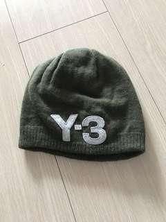 Y3 軍綠色羊毛帽