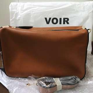 BRAND NEW BROWN VOIR BAG