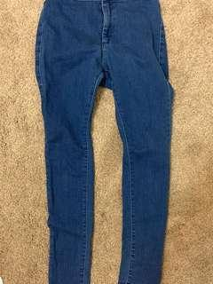 High waisted stretchy denim jeans- size 21