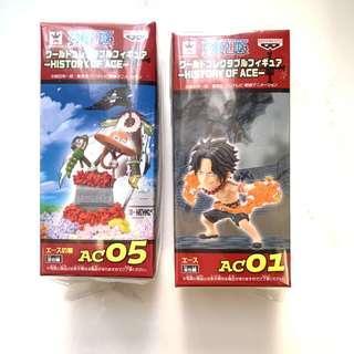 One piece 海賊王公仔  WCF Figures 艾斯 History of Ace 有盒