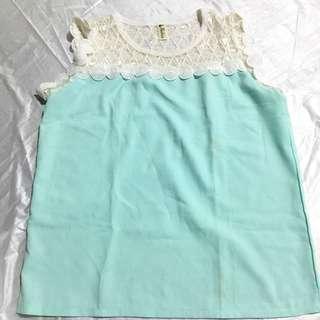 Sleeveless Mint Green Top
