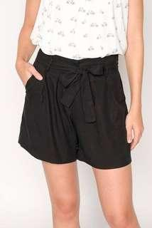 H&M Paperbag Shorts (Navy Blue, High Waisted, Brand New with Tags)