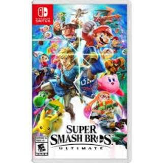 Super Smash Bro's Nintendo Switch Game