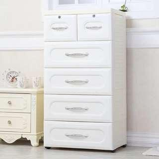 🚚 Free delivery 5 tiers Euro Design storage drawer cabinet
