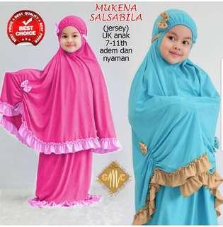 Kids Mukena Anak 67119 Mukena Salsabila Good Quality Bahan Lembut Adem Nyaman