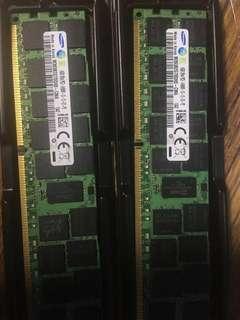 鎂光 Samsung 三星16G 2RX4 PC3 14900 DDR3 REG 1866mhz 記憶體 RAM