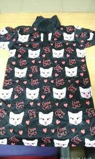 Baju motif kucing