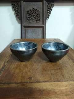 🚚 建窯油滴小茶碗二個