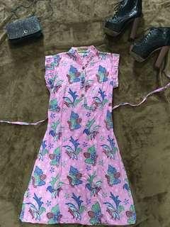 Dress Pink batik