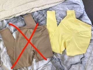 Pastel Yellow LIMITED EDITION Saski Leggings