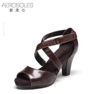 Women Strap Brown Heels