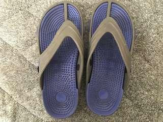 Blue / Grey Slippers