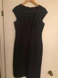Black banana republic work dress