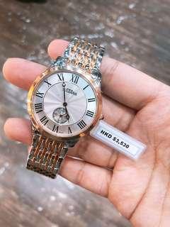 sultana男裝玫瑰金鋼帶石英錶😊清貨兩隻