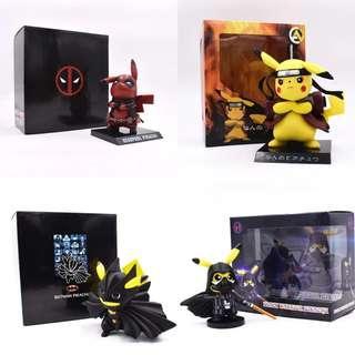 Deadpool Pikachu Batman Naruto Action Figure
