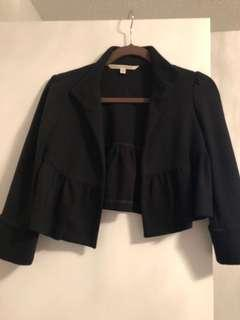 Diane Von Furstenberg cropped peplum blazer