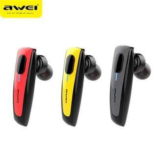🚚 AWEI N3 Wireless Hands Free Bluetooth Headset (WaterProof IPX4)