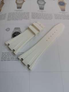 White rubber strap for Audemars Piguet Royal Offshores AP ROO 42 mm deployant buckle type