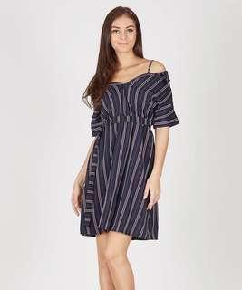 Stripes Dress in Navy