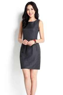 BNWT Lilypirates Keeping It Classy Dress In Dark Grey