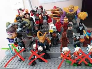 Lego Marvel 人仔 換 ninjago人仔/set