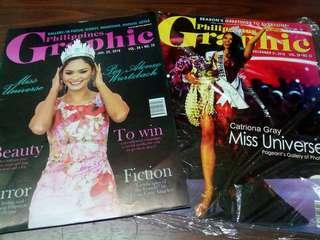 Miss universe covers graphic - sold as set pia wurtzbach and catriona gray