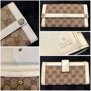 Gucci Wallet White Leather