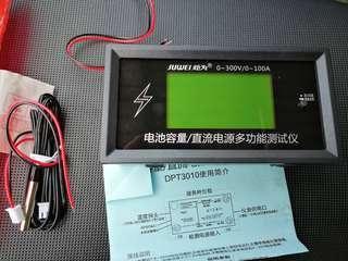 Battery DC voltage current capacity coulomb meter