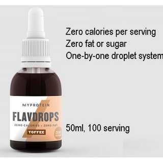 Toffee flavdrops Myprotein