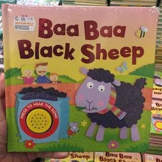 Baa Baa Black Sheep Melody Sound Board Book (buku BBW)
