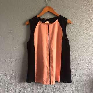 Black/Pink Sleeveless top