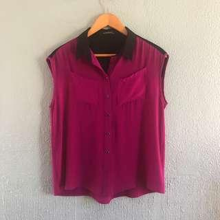 Purple/Black Blouse