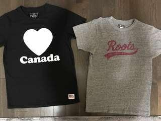 Roots T-shirt's ladies medium