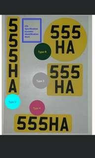 🚚 LTA license sticker for Escooter /Ebike