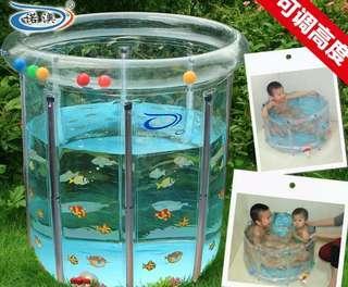 嬰兒游泳池 連swimtrainer水泡