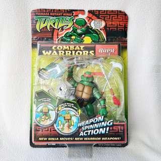 (MOC) 2005 Playmates Teenage Mutant Ninja Turtles Combat Warriors Raphael Action Figure - Mint Condition