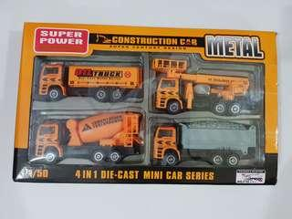 Construction Car - 4 in 1 Die Cast Mini Car Series