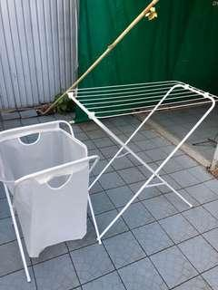 Laundry Drying Rack and basket