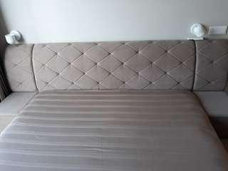 Living Instinct Cushioned Bedframe with 2 Side Storage
