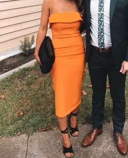 Bardot Orange Dress Size 6