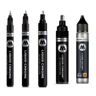 Molotow Liquid Chrome Marker ( 1mm, 2mm, 4mm, 5mm and Refill)