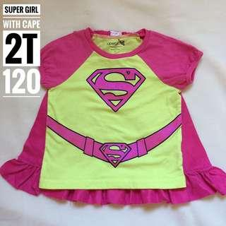 Super Girl Top Costume with Cape