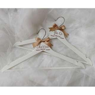 Crafted Custom Wedding Hangers White Rose Gold