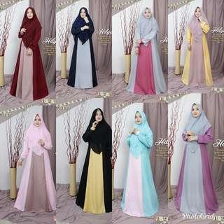 🚚 8 colors jubah and khimar set