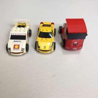 Pull back motor drag and release LEGO vehicles Ferrari f1 Grand Prix tank truck Lorry
