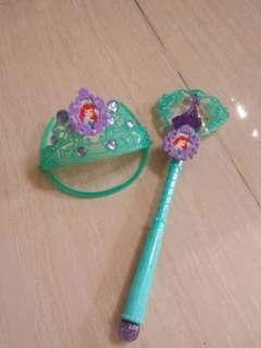 Little Mermaid tiara and wand