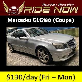 Mercedes CLC180 Cheap and P plate Friendly Car Rental