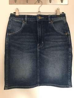 Rollas denim high rise mini skirt